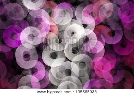 Romantic elegant circle background design illustration on black