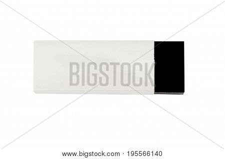 The eraser isolated on white a background