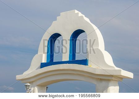 White And Blue Colors, Greek Style Architectural Details