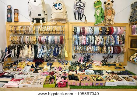 SEOUL, SOUTH KOREA - CIRCA MAY, 2017: goods on display at a store in Seoul.