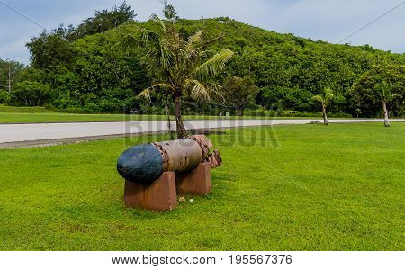 World War Ii Torpedoes In A Park In Guam