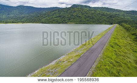 huai preu water reservior dam nakorn nayok thailand