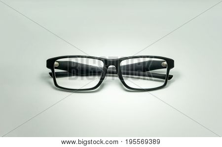 A black plastic eyewear isolated on the white background.