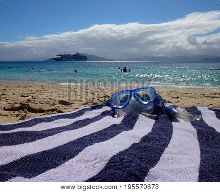 Snorkel Ready To Go, Doini Island, Papua New Guinea.