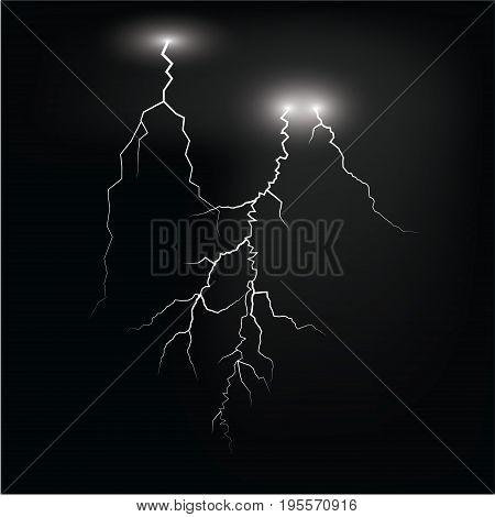 lightening and thunder bolt or electric glow and sparkle effect on background