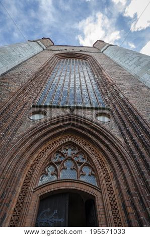 St Mary's Church tower in the Hanseatic city of Stralsund Germany