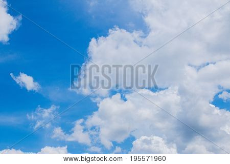 Bright sky with clouds formed in morning