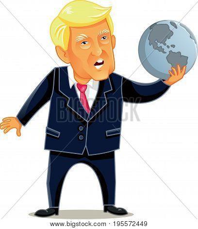 June 16 2017, Donald Trump Vector Caricature