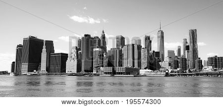 Typical Manhattan New York Skyline - view from Hudson River- MANHATTAN - NEW YORK