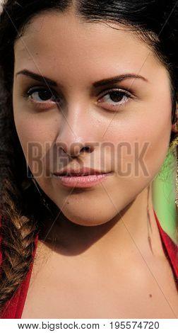 A Portrait of a Hispanic Teenage Female