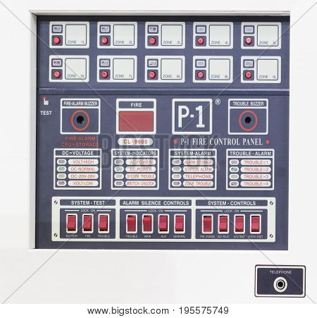 Control panel for fire alarm system;Safety Equipment