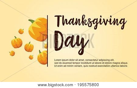 Thanksgiving day collection stock card vector illustration