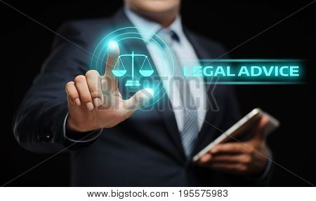 Legal Advice Law Expert  Business Internet Concept