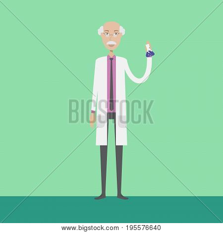 Scientist Character | set of vector character illustration use for human, profession, business, marketing and much more.The set can be used for several purposes like: websites, print templates, presentation templates, and promotional materials.