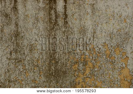 Gray brown dirty background from a part of the foundation of a concrete wall of a building