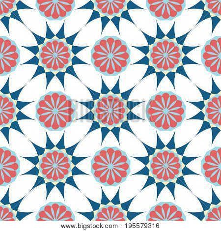 Seamless abstract Arabic ornament. Geometric floral pattern. textile print. vector