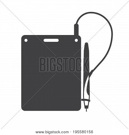 Underwater note book and pencil for snorkeling and scuba diving. Water writing slate or tablet with pen vector outline icon.
