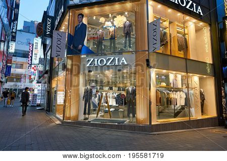 SEOUL, SOUTH KOREA - CIRCA MAY, 2017: ZioZia storefront in Seoul.