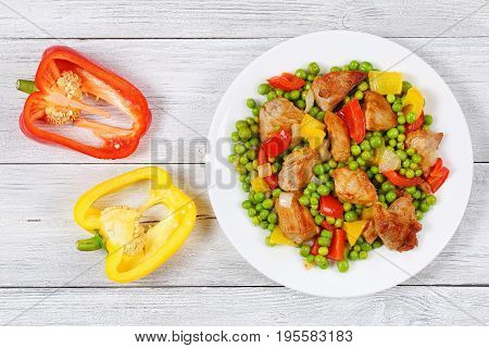 Meat Filet With Vegetables On Plate