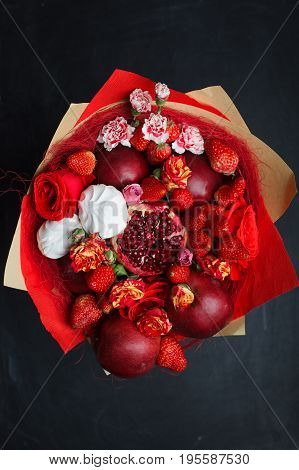 Edible Bouquet Of Berries And Fruits