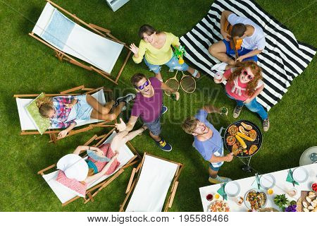 Drone Selfie On Barbecue