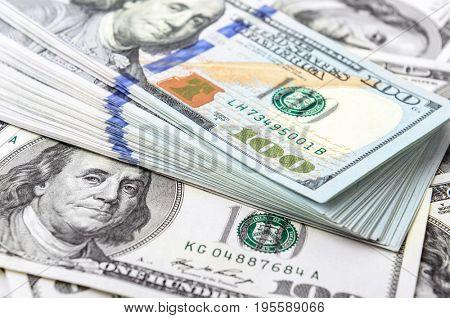 background of American dollar bills