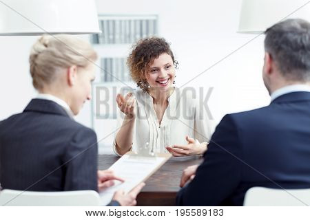 Woman Speaking About Her Experience