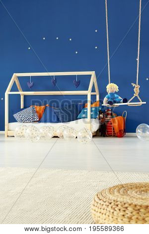 Bed And Swing In Kids Room