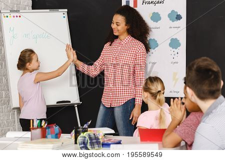 High Five With Teacher