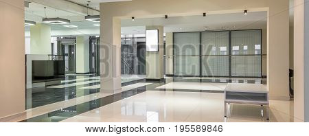 Spacious Hallway With Marble Floors