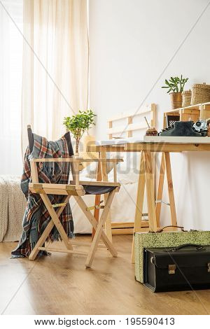 Minimalist Wooden Desk And Chair