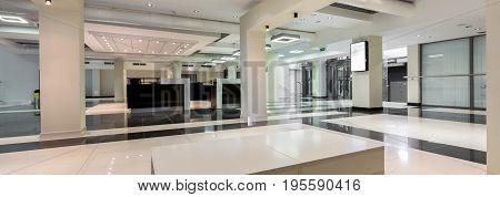 Modern Spacious Corridor In College Building