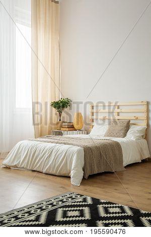 Beige And White Minimalist Bedroom