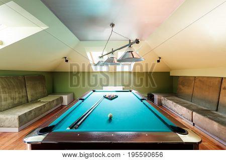 Elegant Pool Table At The Attic