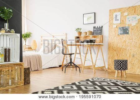 Minimalist Studio Flat With Workspace