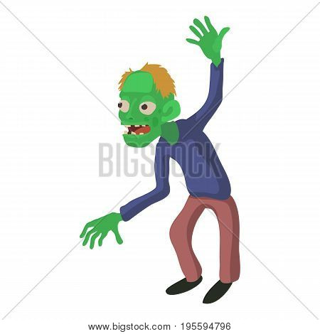 Dancing zombie icon. Cartoon illustration of zombie vector icon for web