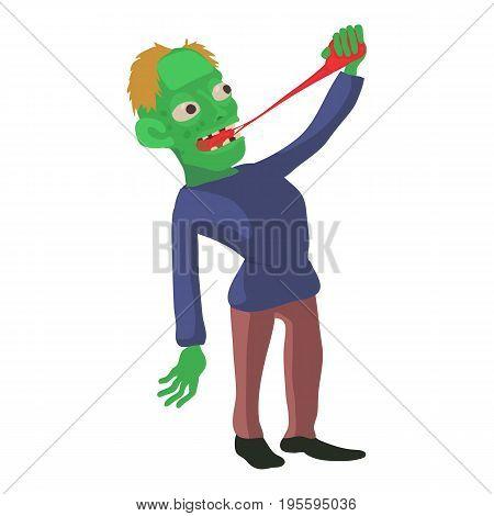 Zombie icon. Cartoon illustration of zombie vector icon for web