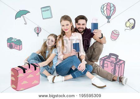 Happy Family Ready For Vacation