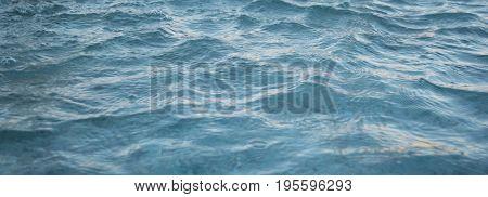 Blue azure transparent beautiful calm ripples of water