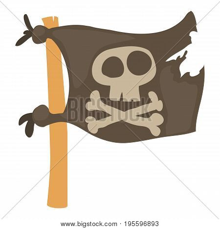 Jolly Roger icon. Cartoon illustration of Jolly Roger vector icon for web