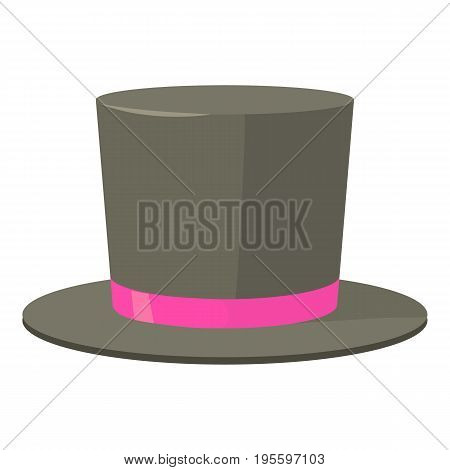 Bowler hat icon. Cartoon illustration of bowler hat vector icon for web