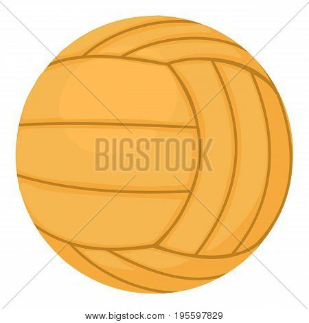 Volleyball ball icon. Cartoon illustration of volleyball ball vector icon for web