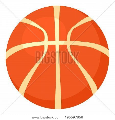 Basketball ball icon. Cartoon illustration of basketball ball vector icon for web