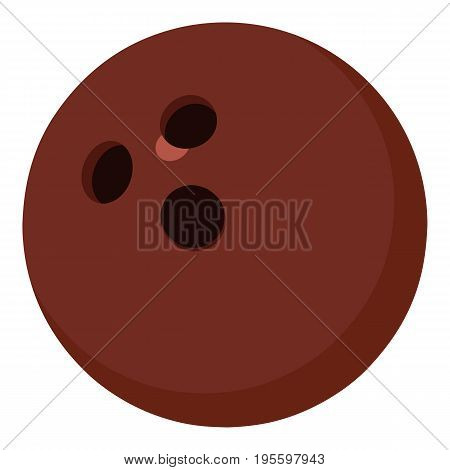 Bowling ball icon. Cartoon illustration of bowling ball vector icon for web