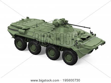 Armoured Personnel Carrier isolated on white background. 3D render