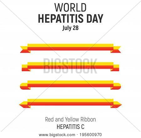 World Hepatitis Day, July 28, Vector Design
