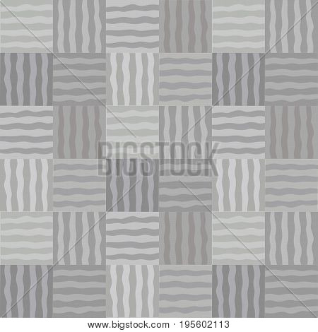 Monochrom mosaic geometric vector patchwork seamless pattern Simple texture background