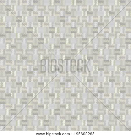 Abstract mosaic geometric vector patchwork seamless pattern Simple pastel colored texture background