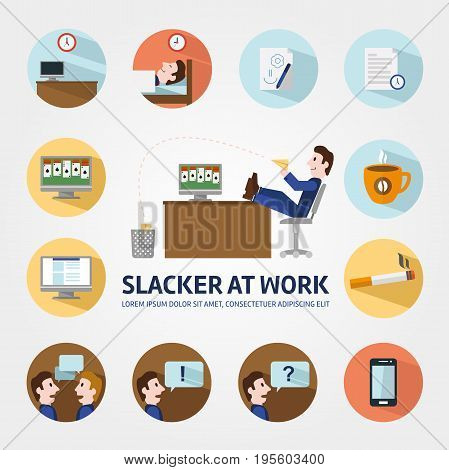 Vacancy for a student infographic elements, Headhunter, Search job. Looking for employee. Search work, Education, Enthusiasm, Careers. Stock vector