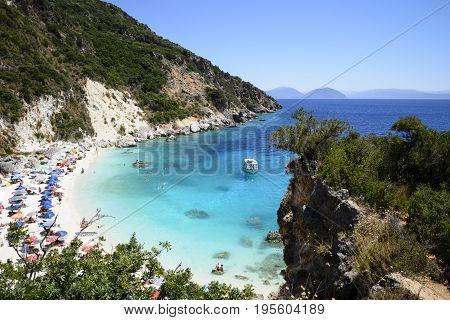 Agiofili, beautiful beach on Ionian island Lefkada